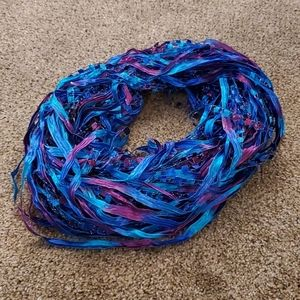 Blue and purple infinity scarf